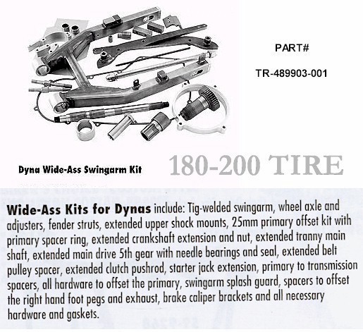 Dyna Style Wide Tire Drive Kit for Harley Davidson