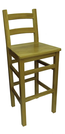wooden kitchen stools island with casters padded breakfast bar frame crafty solid oak stool back fully assembled