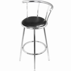 Revolving Chair For Kitchen Wooden Swing Stand Fixed Height Bar Stools Chrome Satin Finish Swayvon Swivel Breakfast Stool