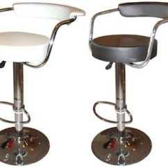 Revolving Chair For Kitchen Ergonomic Leather Office Swivel Breakfast Bar Stools Chrome Stainless Steel Wood Lazio Stool Height Adjustable Black Brown Or White
