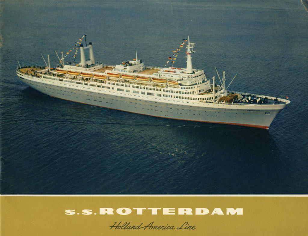 Maiden voyage ss Rotterdam