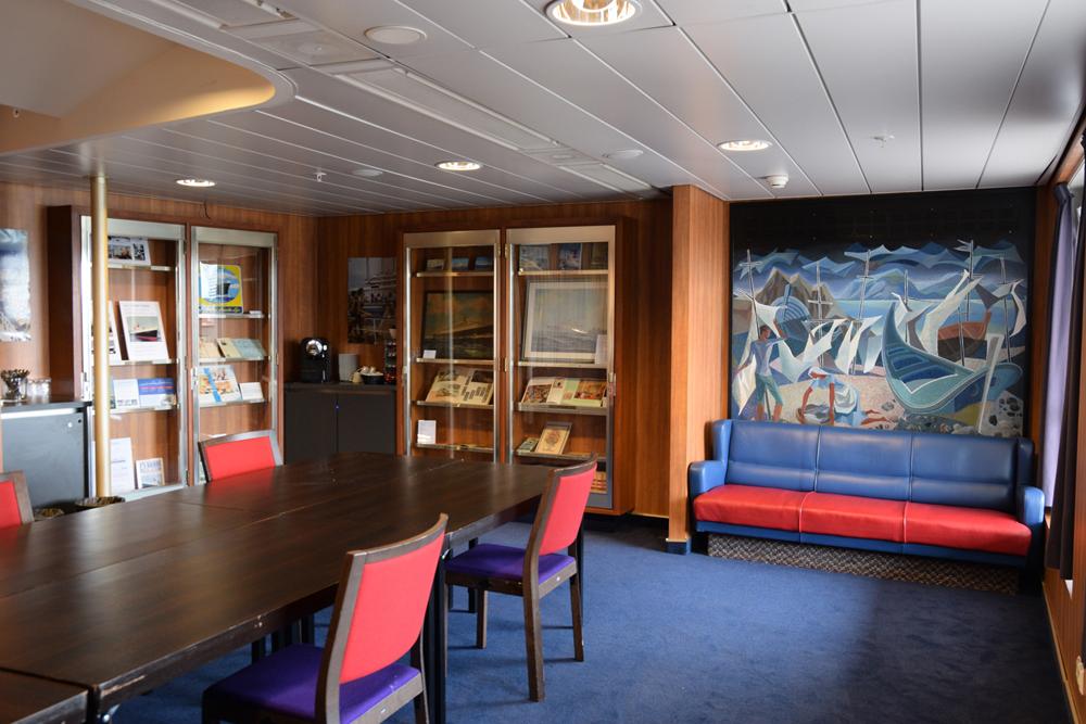 ss Nieuw Amsterdam in de Library