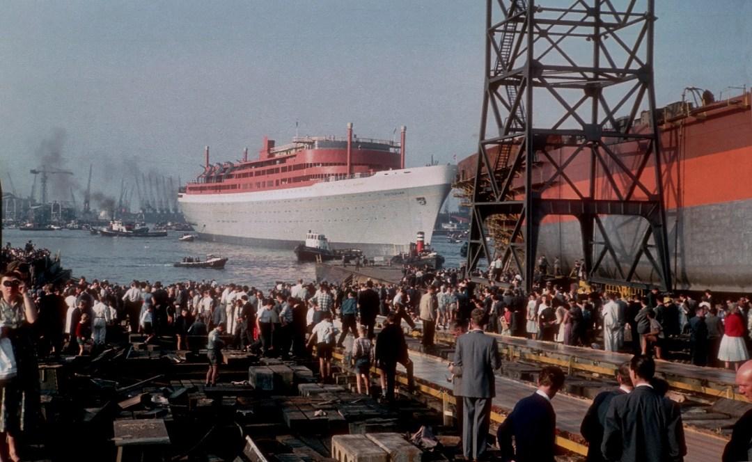 ss Rotterdam 55 jaar te water