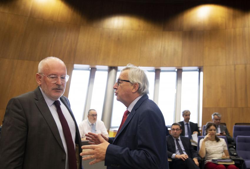 Timmermans toch even de baas in Brussel