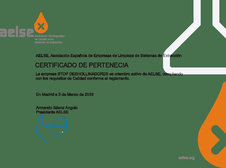 Stop Deshollinadores pertenece a la Asociación Española de Limpieza de sistemas de extracción