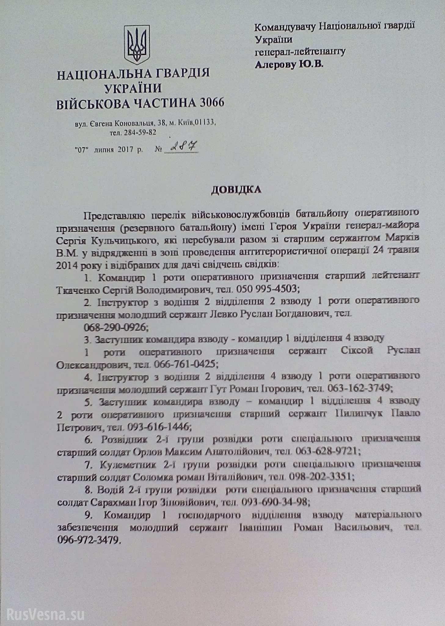 processo rocchelli documento falso