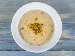 Creamy green chile potato soup