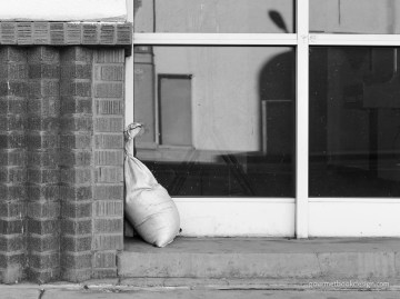 Strange return: Sandbag in a nook