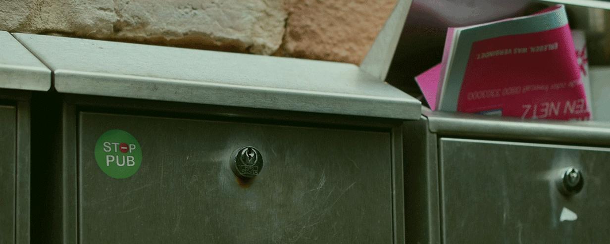 stop pub boite aux lettres