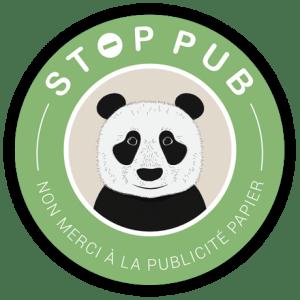 STOP PUB Rond Panda