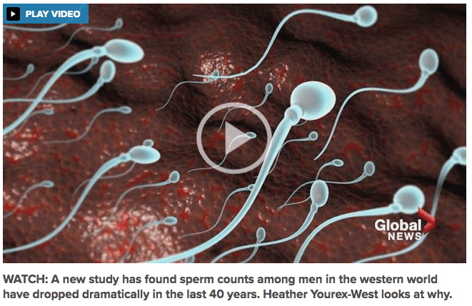 2017-07-25 Major fertility issue: Sperm production down more than 50