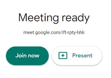 Join Meeting - Google Meet
