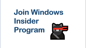 Join Windows Insider Program