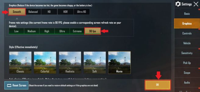 Enable 90 FPS