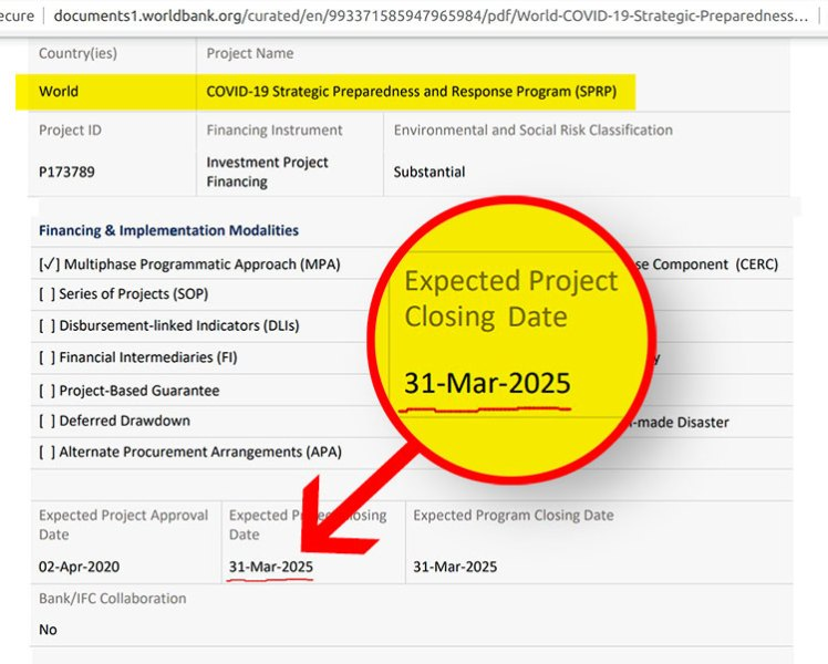 covid planned program 2025
