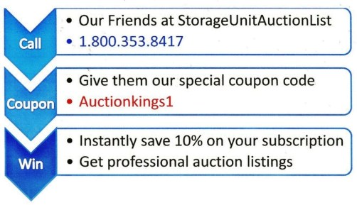 How to get discounted storage auction listings