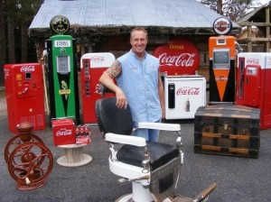 Rick Dale and his many antiques