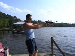 victor from storage wars texas shooting a gun