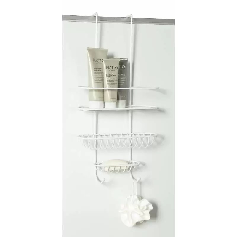 Shower Caddy Over Wall or Door White from Storage Box