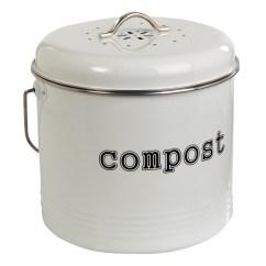 Compost Bin For Kitchen Laminate Countertops White 6 5l From Storage Box