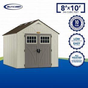 suncast tremont 8x10 shed