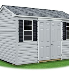 8x12 vinyl sided side entry peak storage shed available at pine creek structures [ 1600 x 1200 Pixel ]