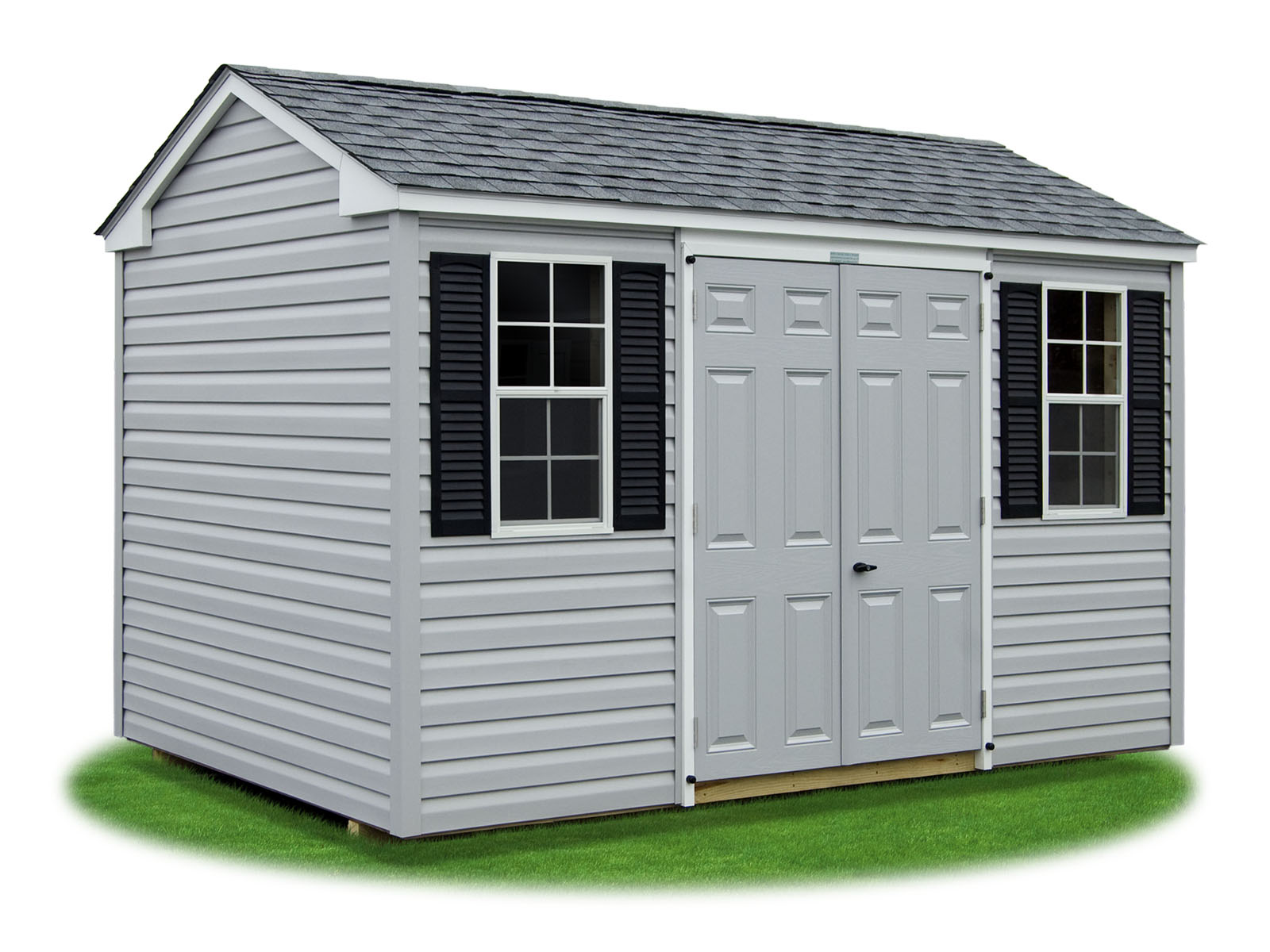 hight resolution of 8x12 vinyl sided side entry peak storage shed available at pine creek structures