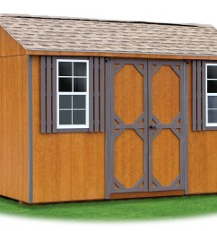 8x12 lp sided side entry peak storage shed available at pine creek structures [ 1600 x 1099 Pixel ]