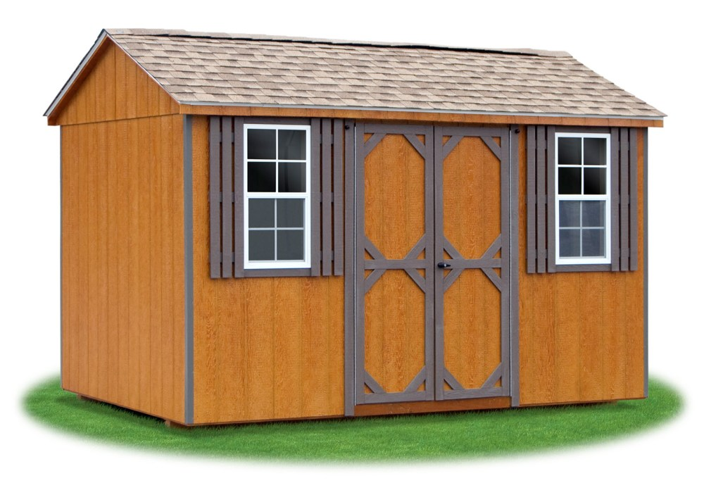 medium resolution of 8x12 lp sided side entry peak storage shed available at pine creek structures