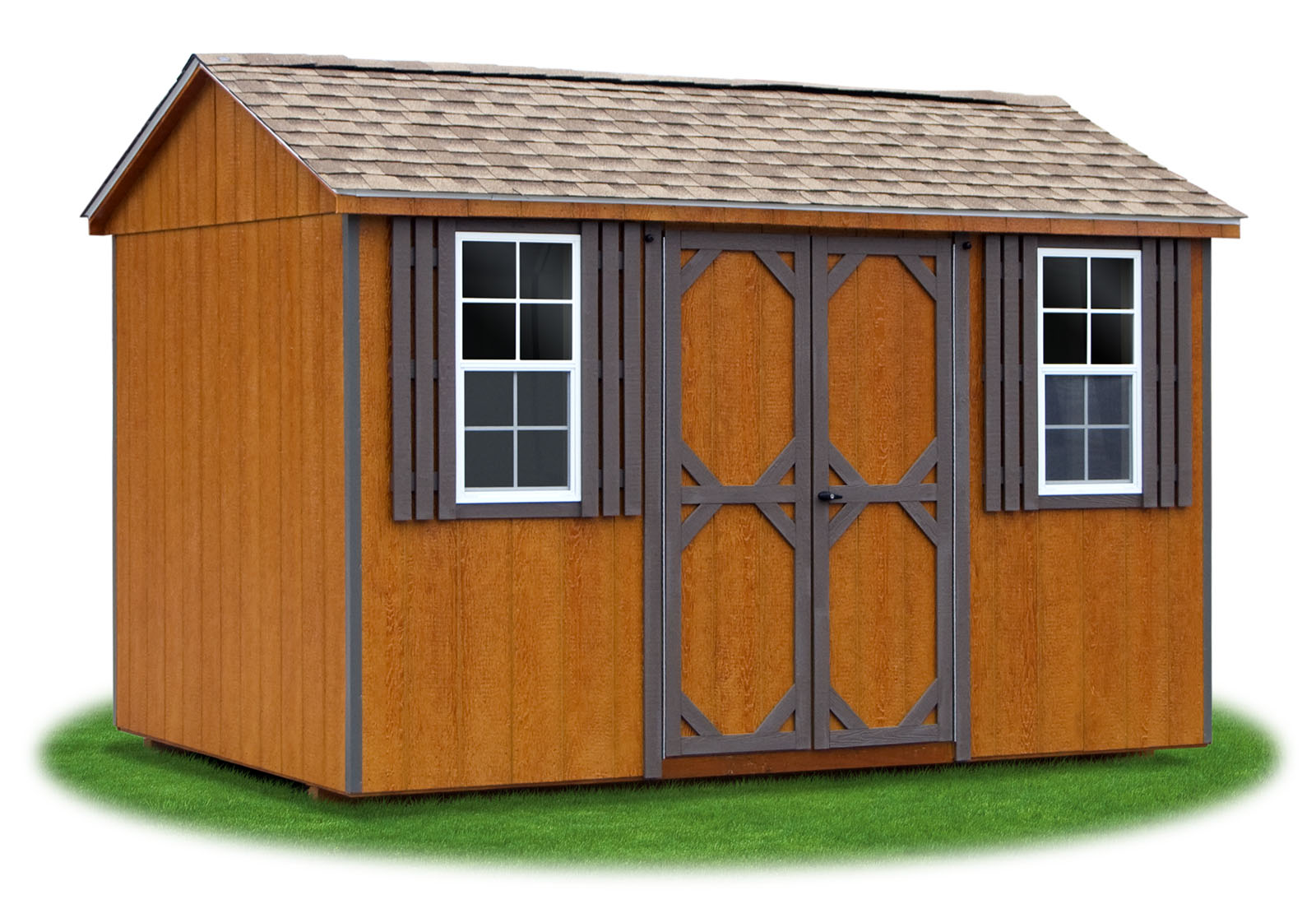 hight resolution of 8x12 lp sided side entry peak storage shed available at pine creek structures