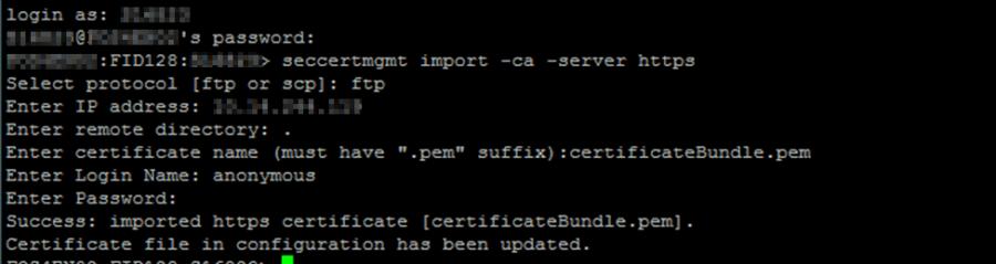 Importing CA root certificate