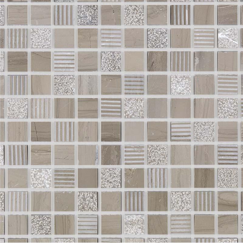 mosaique pierre naturelle beige wood