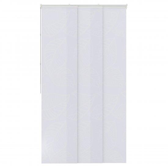 panneaux japonais tamisant blanc feuilles 50x250cm
