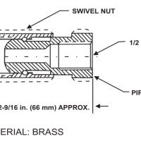 KIDDE WK-934208 Fire Suppression System Swivel Adapter