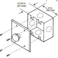 KIDDE 06-236881 Abort Station/Key Maintenance Switch Back Box (surface-mount installation)