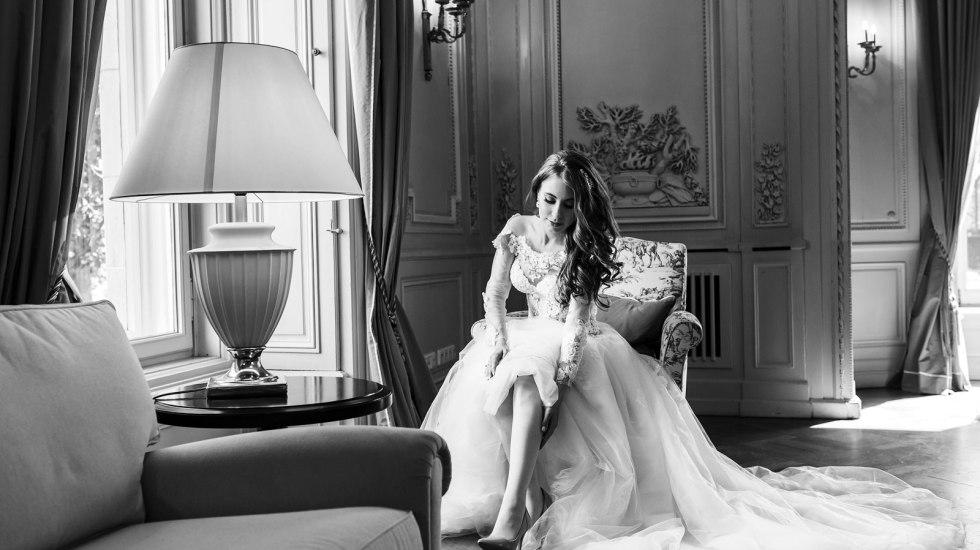 Hochzeitsporträt einer Braut mit Tipps zur Umsetzung.