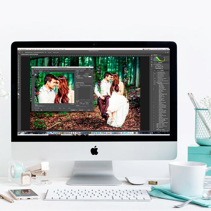 Photoshop action Fotos für Internet vorbereiten