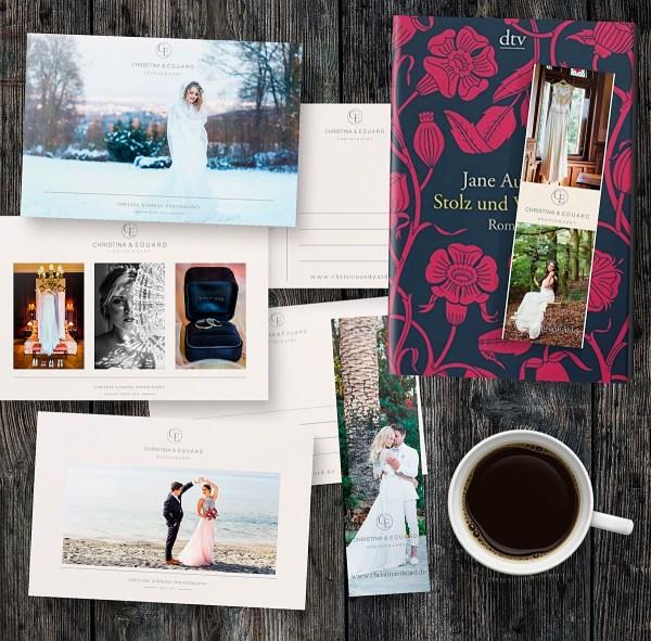 Promotion Postkarten und Lesezeichen