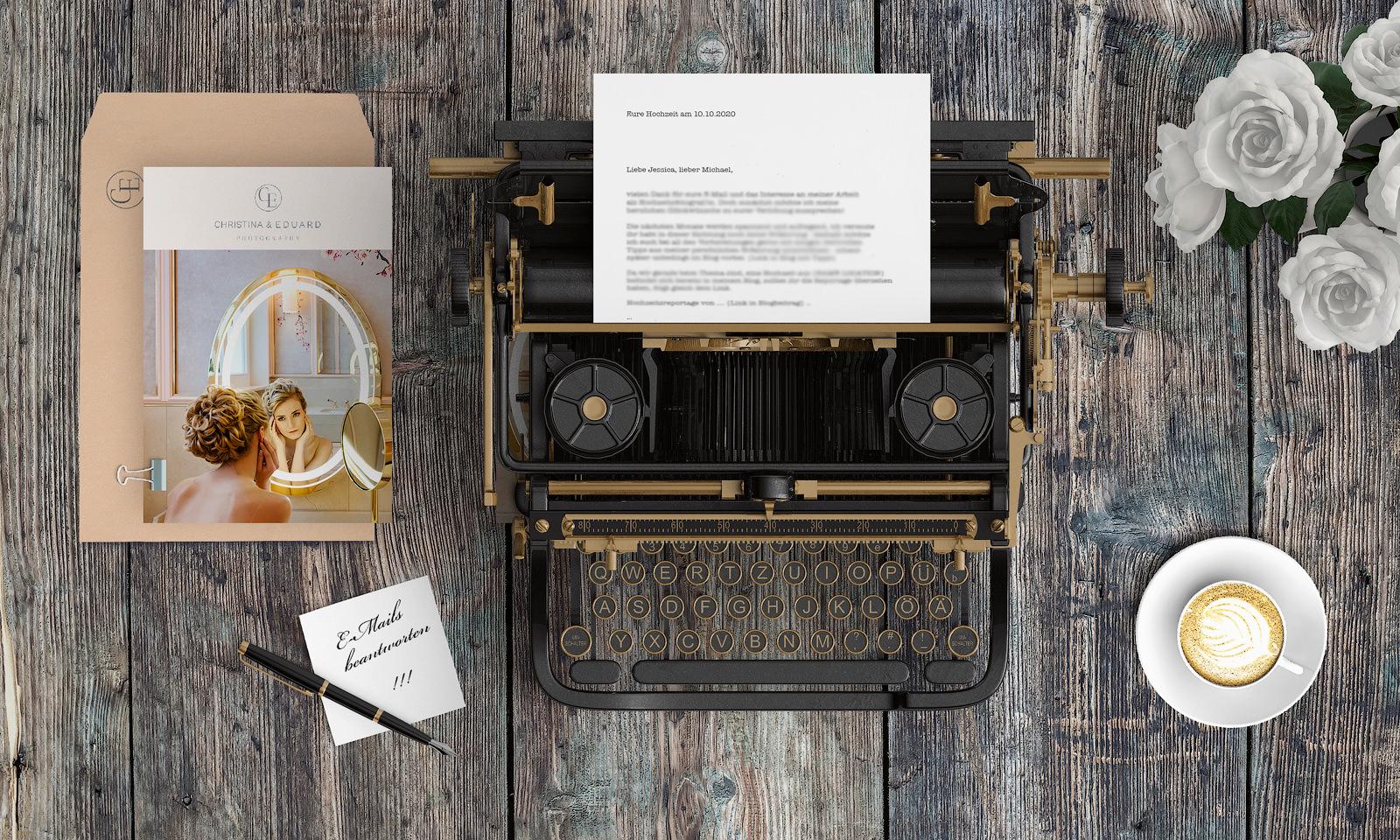E-Mail Text Vorlagen für Hochzeitsfotografen