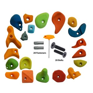 20-Pieces-Mix-Climbing-Holds-with-Fastener,-bolt-and-LN-Key