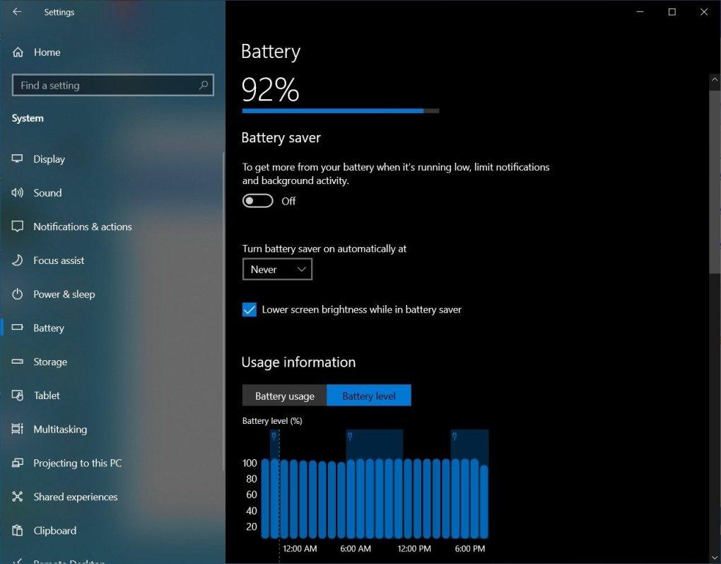 utilizarea bateriei windows 11
