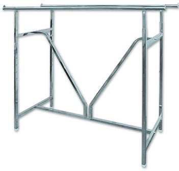 Double Bar Clothing Rack Clothing Display Store