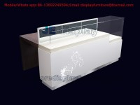 Wooden Display Furniture in White glossy Painting for ...
