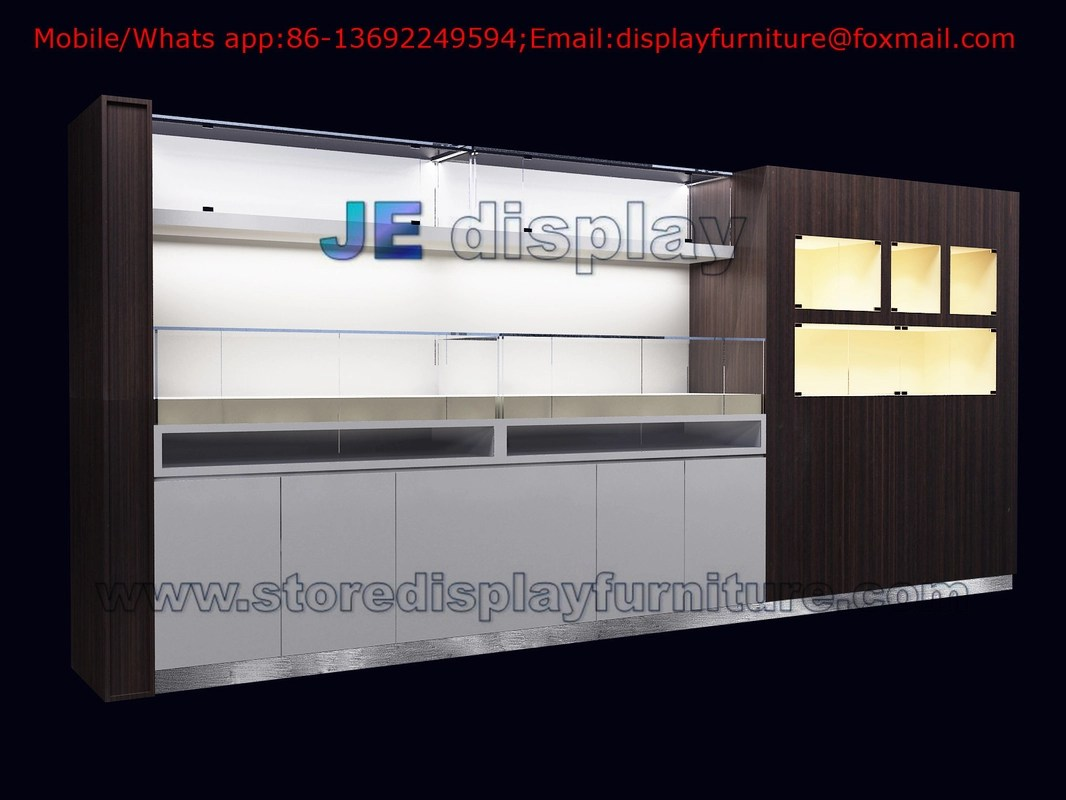 In Wall Display Cabinet by White glossy Painting and Wood