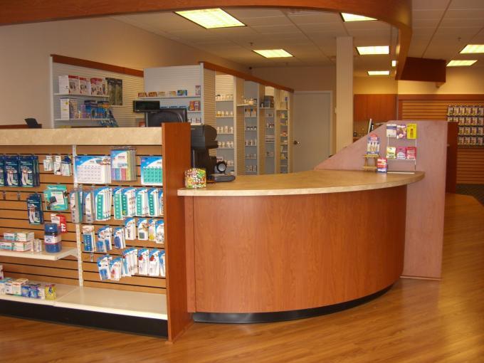 Free Interior Design For Counters And Cabinets In Pharmacy