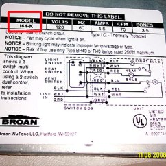 Broan Range Hood Wiring Diagram Suzuki Gs550e Where To Find The Model Number On Nutone Parts At See Label Sample