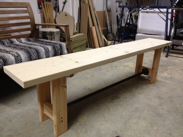 DIY Pipe  Wood Bench  Storefront Life