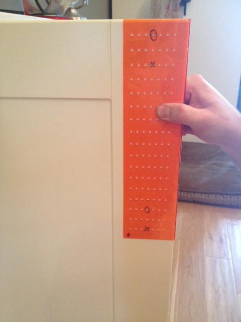 cabinet door knob template