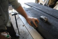 Fill & Sand - Project Concrete Countertops - Storefront Life