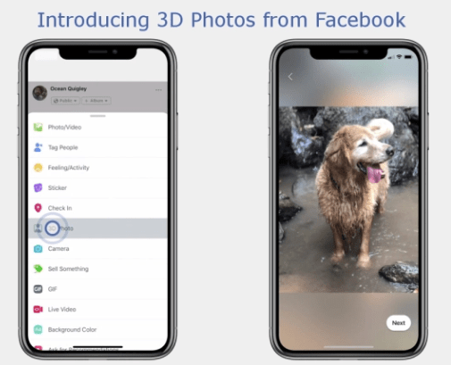 3D Photos Now Rolling out on Facebook and in VR – Facebook 360 Video 2018 10 14 19 13 15